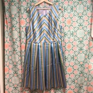 NWOT ModCloth Multi-Colored Stripped Dress NWOT